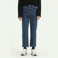 Jeans pour hommes Hommes Vintage Casual Classic Ank Longueur - Pantalon Direct Femmes Streetwear Hip Hop Denim Pantalon Japon Corée Style Pantalon