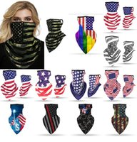New Ice Silk American Flag Face Masks Breathable Hanging Ear...