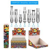 Original ECT kenjoy B1 Pyrex glass vape cartridges 510 ceram...