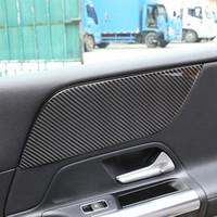 Decoração Painel de fibra de carbono Front Door Etiqueta Car Styling Para Mercedes-Benz Classe B W247 2020 Acessórios interiores para automóveis