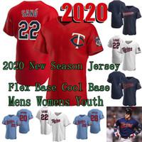 2020 New Season 24 Josh Donaldson 60th Season Jersey Max Kepler Joe Mauer Byron Buxton Kirby Puckett Miguel Sano Eddie Rosario Nelson Cruz