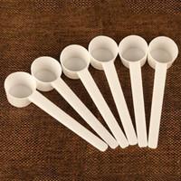 5G / 10 мл пластиковый измерительный совок 5 грамм пищевой сорт PP плоская ложка для белкового молока порошок жидкости белый ZC1169