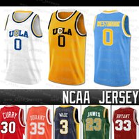 Russell NCAA UCLA Bruins Jersey Lebron Westbrook Stephen Dwyane Curry Wade Kevin James Durant College Basketballtrikots