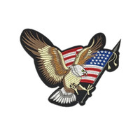 patch eagle Jeans cloth patching patch wings skull eagle fla...