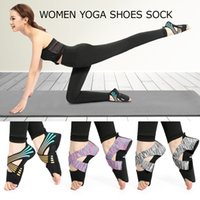 Yoga Sock Women Mezza punta Grip antiscivolo per Yoga Pilates Training Shoes Scarpe Indoor professionali