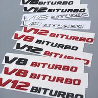 Высокое качество 3D Letters герба Знак для AMG C63 E300L V8 BITURBO V12 BITURBO Fender Side Supercharge Turbo Car Styling наклейка