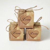 500 stks kraftpapier hol liefde hart gunst geschenkdoos bruiloft verjaardagsfeestje handgemaakte zeep sieraden snoep verpakking dozen 5x5x5cm