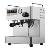 새로운 CRM - 3012 상업용 스팀 에스 프레소 커피 메이커 220V 1.7L 더블 보일러 스테인레스 스틸 커피 머신