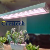 4ft t8 ho الفلورسنت أدى تنمو ضوء تركيبات للنباتات الداخلية، ارتفاع الناتج صف مزدوج T8 LED أنابيب الفلورسنت، 4 مصابيح أنبوب النمو