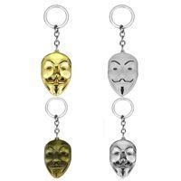 V pour Vendetta Porte-clés Femmes Hommes Pendentif Masque Porte-clés porte-clés Anneau De Film Titulaire Souvenir Cadeaux nouveau GGA2652