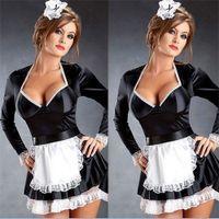 Sexy Naughty French Maid camarera vestido de lujo criado cerveza moza niña traje L2062 M - 4XL