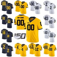 Michigan Wolverines Koleji Futbol Formaları Bayan Tom Brady Jersey Patterson Charles Woodson Nico Collins Peoples-Jones Özel Dikişli