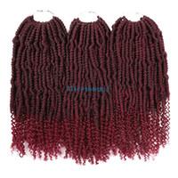 """14 """"24 Tellerinin Bomba Sapıkça Büküm Tığ Saç Sentetik Kabarık Saç Uzatma Nubian Büküm Örgü Saç"""