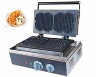 스테인레스 스틸 전기 상업 롤리 머핀 베이킹 와플 메이커 고품질 파삭 파삭 한 기계 판매