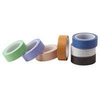 7 rotoli di griglia stampata Washi nastro Set 15mm largo Masking nastro decorativo, forniture Festival Gift Wrapping partito