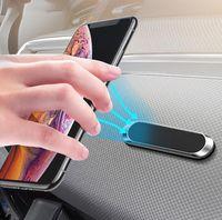 Bussiness المعادن قطاع المغناطيسي سيارة حامل الهاتف ملصق المحمول حامل جبل ل iphone SE 2 XR 11 Xiaomi Samsung Huawei F6