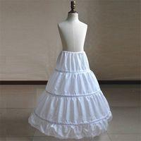 Lange Kind Petticoat für Kinder Girl 3 Hoop Petticoat Crinolines Beleg Underskirt für Blumen-Mädchen-Ballkleid-Kleid 75cm