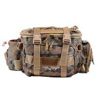 Pesca bolsa impermeable de la pesca de hombro al aire libre solo componente Bolsa de cintura señuelo Carrete Pesca trastos bolsa de almacenamiento, Brown
