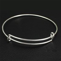 Expandable Wire Bracelet Bangles Adjustable Silver Rose Gold...