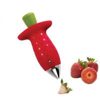 الأحمر الفراولة Huller الفراولة الأعلى أوراق مزيل الفاكهة سيقان الطماطم الفاكهة سكين الجذعية المزيل أدوات المطبخ مفيدة