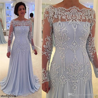 2019 Long Sleeves Formal Mother Of The Bride Dresses Off Sho...