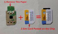 Бесплатный DHL 3M клейки Onesime / GnSIM Unlock Card Автоматическое всплывающее меню для 6 6S 7 8 X XS XR XSMAX 11 12Series Gevey