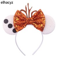 2020 Hot Glitter Mouse Ears Stirnband Frauen Ostern Ohr Sequin Bogen-Haar-Band-Haar-Accessoires Stirnbänder Mujer