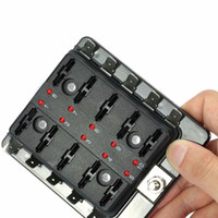 Carro 10 Way lâmina fusível titular Box LED Iluminado Automotive Fuse bloco Box 10-32V de alta qualidade