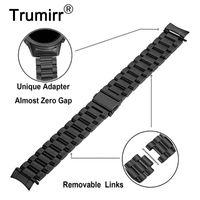 Нулевой зазор изогнутый из нержавеющей стали ремешок для часов + Link Remover для Samsung Galaxy Watch 42мм SM-R810 / SM-R815 диапазона ремешок на запястье браслет
