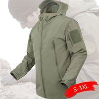 2020 esterna impermeabile Softshell Jacket Caccia giacca a vento sci escursionismo Coat pioggia pesca di campeggio tattico Abbigliamento MenWomen