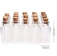 5ml Cork Bois Mini Bouteilles en verre Mini verre vide Jars conteneurs Bouteille Jars Pendentifs artisant Drift parfum bouteille KKA7803