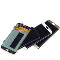 100% Samsung Galaxy S7 Kenar G935 Için Test LCD G935F Samsung S7 Kenar Ekran Için Ekran Dokunmatik Ekran Digitizer Meclisi