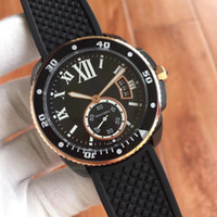 Coquille noire pour hommes de la nouvelle mode W7100056 montre mécanique automatique de 42 mm en verre à haute résistance pour hommes, livraison gratuite.