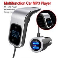 Trasmettitore FM di vendita calda Bluetooth Car Wireless Radio AUX MP3 Player Modulatore FM chiamata a mani libere
