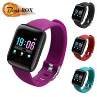 116 Plus Smart Watch Armbänder Fitness Tracker Herzfrequenz Schrittzähler Aktivität Monitor Band Armband PK 115 PLUS für iPhone Android GT08