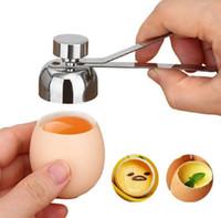 Ovo de aço inoxidável Topper Cutter Shell abridor cozido ovo cru aberto tesoura cozinha ovos ferramenta diy abridores de ovos eco-friendly