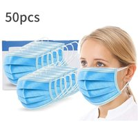 Disposable Masks Three layers of protection With elastic ear...