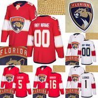 Florida Panthers Jersey 72 Sergei Bobrovsky 1 Luongo 16 Aleksander Barkov 5 Ekblad Red White Personnaliser n'importe quel numéro Nom Nom Jerseys Hockey