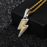 Iced Out Bling Light Pendant Necklace With Rope Chain Copper...