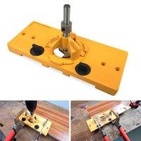 35 mm Coupe style TOURILLONS Jig Drill Guide Locator Définir le modèle Trou porte de poche Set bricolage bois bois outil