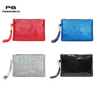 Brillant sac à main femmes laser pierre PU sac à main Lady Party Glitter Clutch Wallet