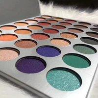 35 Renkler Kahverengi Turuncu Mat yanar döner Glitter Pullarda Göz Farı Paleti Pigment Göz Farı Makyaj Paleti