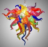 Lámparas Maravilloso Mini lindo Pasillo Florero Cristal de cristal Lámpara Lámpara elegante Decoración del hogar Colorido Tiffany Vidrio Manchado Luz colgante
