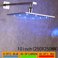 비 욕실 샤워 헤드 회전은 360도 크롬 욕실 강우량 헤드 물 절약 고품질 샤워 LED