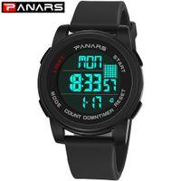 PANARS Sportuhren für Männer Digital-Armbanduhren Herren Wasserdichte LED-Anzeigen-Sport elektronische Uhr Chronograph Uhr 8100