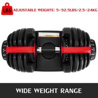 جديد الوزن قابل للتعديل الدمبل 5-52.5LBS اللياقة البدنية التدريبات دمبل لهجة قوامك وبناء عضلاتك ZZA2196 2PCS