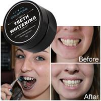 Uso diario para blanquear los dientes Polvo escalado Higiene oral Limpieza Empaque Premium Activado Bamboo Charcoal Dowder Deth blanco DHL Free Ship