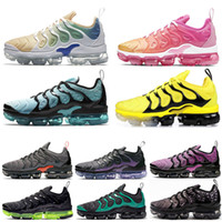 Nike air Vapormax TN Plus Diseñador Hombres Mujeres Zapatos para correr Psychic Pink Spirit Teal Geometric Black Black Volt Women Trainers Mens Sports Runner Sneaker Shoes