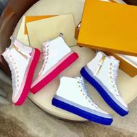 20ss Роскошные дизайнерские туфли Женские Звездные кроссовки ботинок цепная реакция кожа модные кроссовки обувь синий розовый