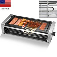 Electric Grill Outdoor Indoor Smokeless Grill with Removable...